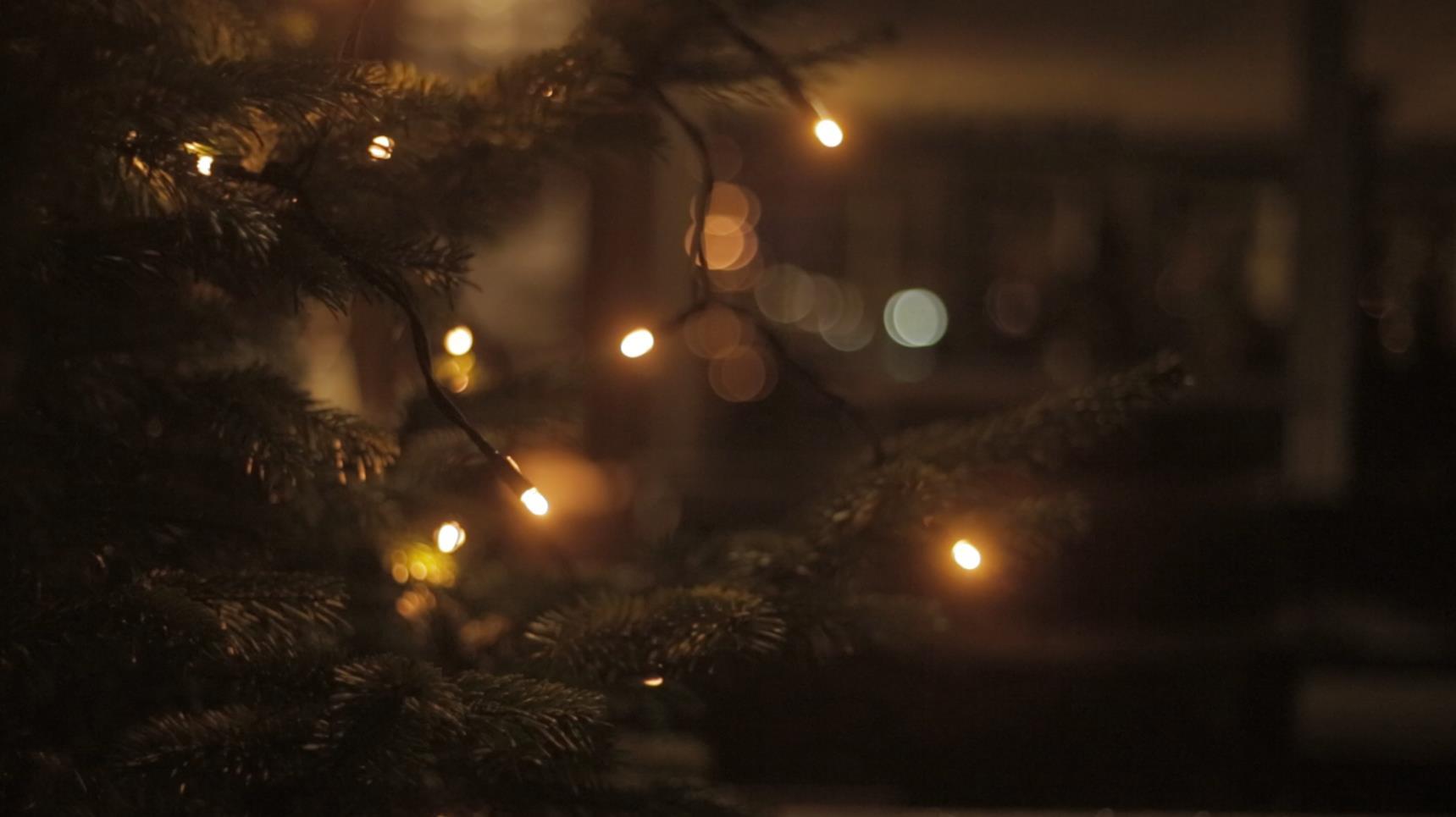 Weihnachten und Lichter