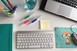 Schreibtisch bei der textzeichnerin