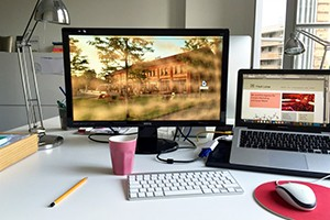 Schreibtisch textzeichnerin
