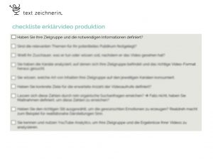 Checkliste Erklärvideo Produktion