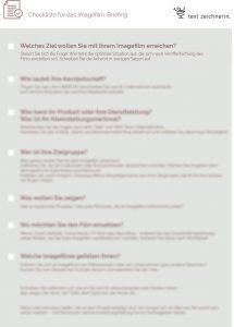 textzeichnerin Checkliste Imagefilm Briefing