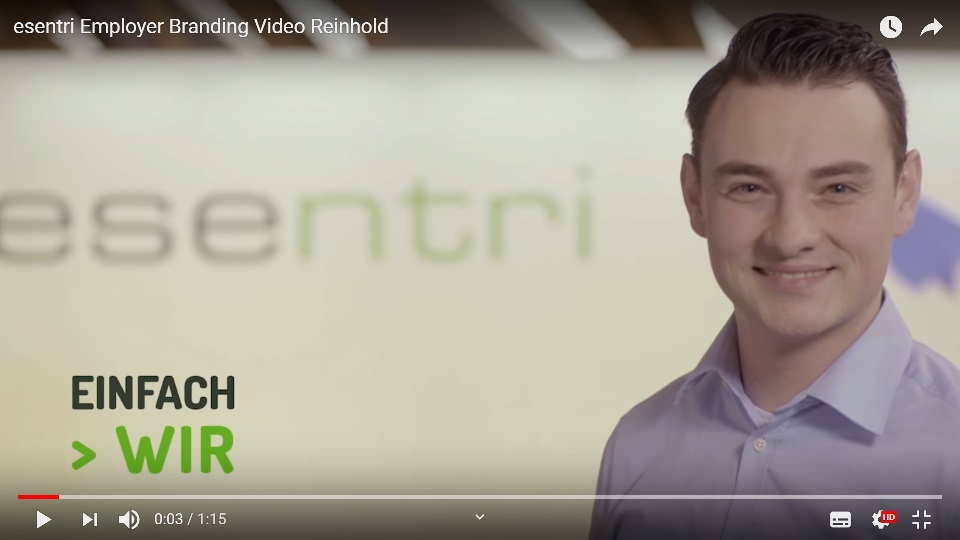 Employer Branding Video esentri