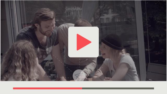 Fotografie des ersten Realdrehs für Karlsruher CyberForum junge Menschen sind begeistert