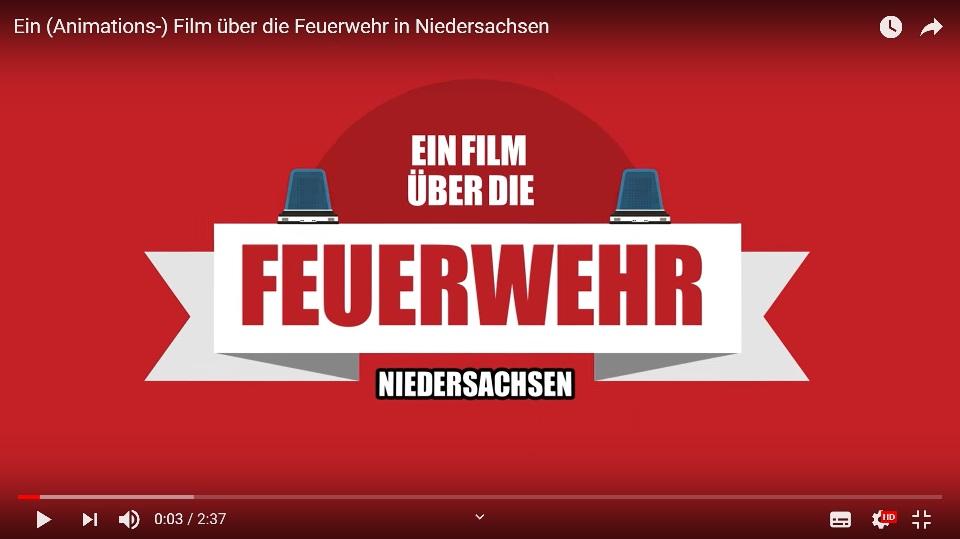 Link zu Recruiting Video der Feuerwehr Niedersachsen
