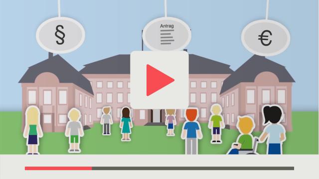 Grafik aus Lernvideo für Schulen zum Thema Politik Landtag und Bürger von Rheinland-Pfalz dargestellt
