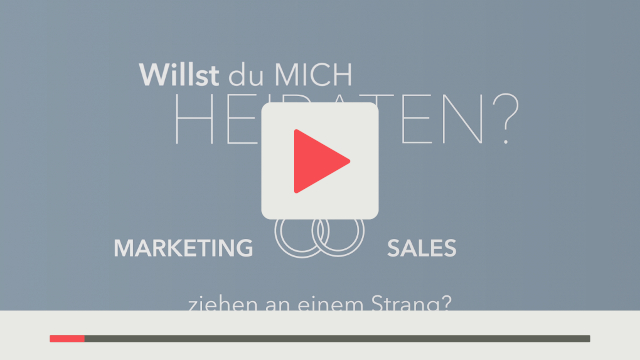 Beispiel Messevideo Lead Management Summit 2018 - HubSpot als digitale Plattform für Marketing und Vertrieb weiße Schrift auf blauem Hintergrund