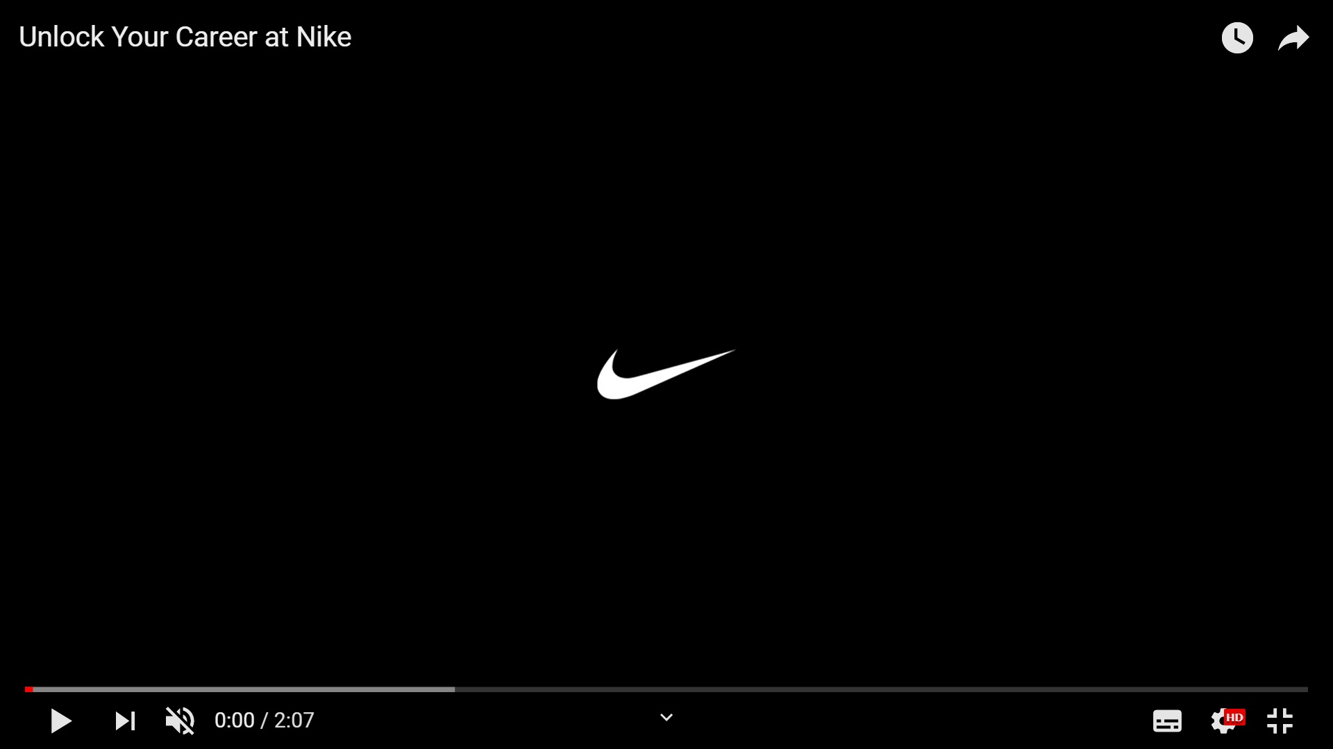 Link zu Recruiting Video von Nike
