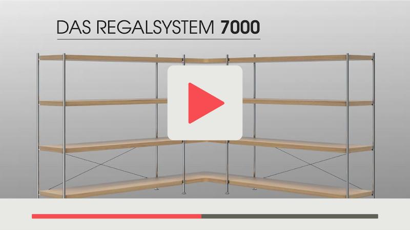 Beispiel Produktvideo für Thonet Regalsystem auf grauem Hintergrund